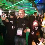 Eylean with ninjas at Slush
