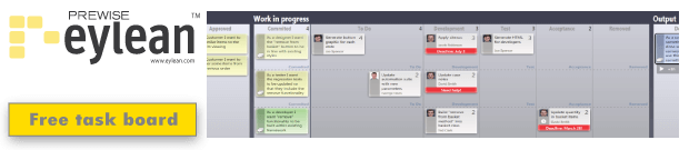 agile and lean project task board