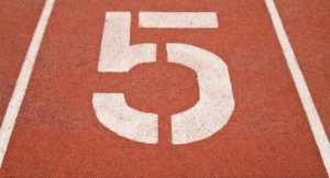 number 5 five graphic